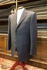 ゼニア ブルーチェック柄のオーダースーツの画像